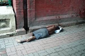 Mittagsschlaf in der Park Street