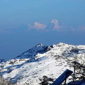 Von Sandapkhu (Westbenaglen) aus erkennbar der Mount Everest