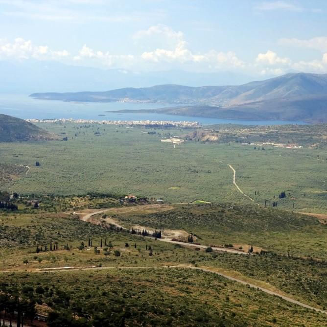 Blick von Delphi auf Kirra