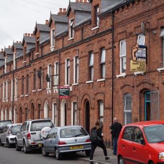 Straße in West-Belfast
